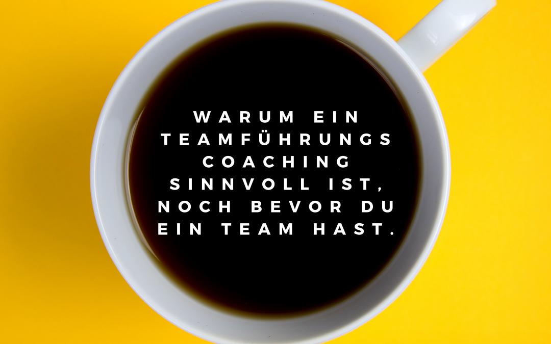 Warum ein Teamführungscoaching sinnvoll ist, noch bevor du ein Team hast.